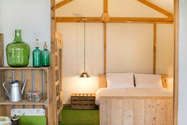 Slaapkamer van Groentehuisje op Geversduin