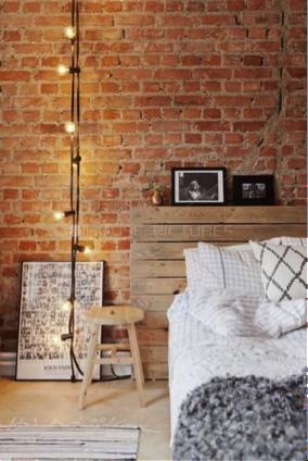Stoere en industri le bakstenen muren atelier09 for Bed in muur