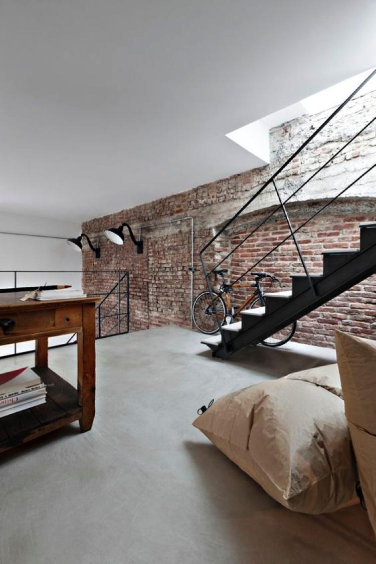 Stoere en industri le bakstenen muren atelier09 - Bakstenen muur woonkamer ...