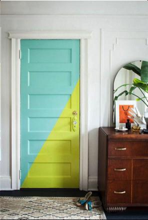 Geef je voordeur eens een opvallende kleur atelier09 - Trend schilderij slaapkamer ...