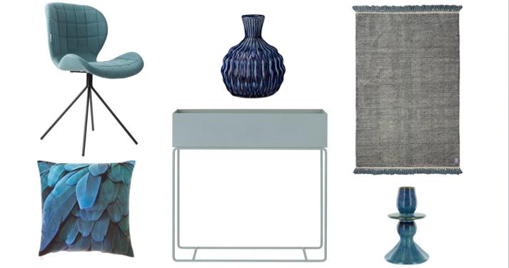 6 items in de kleur blauw