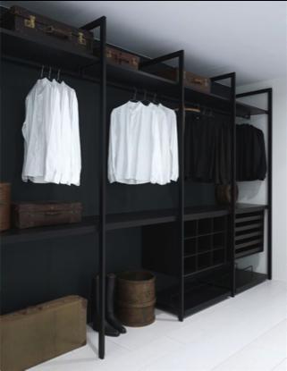 Walk-in closet zwart
