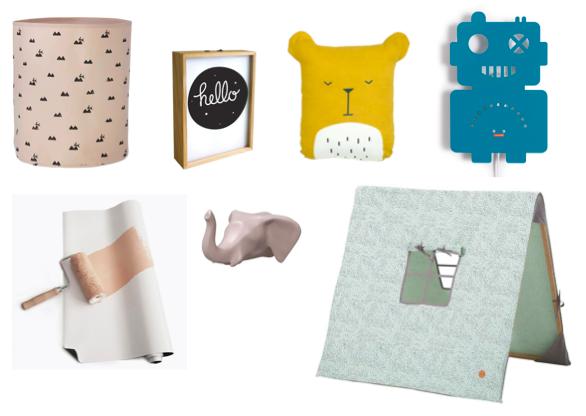 Verschillende leuke accessoires voor de kinderkamer
