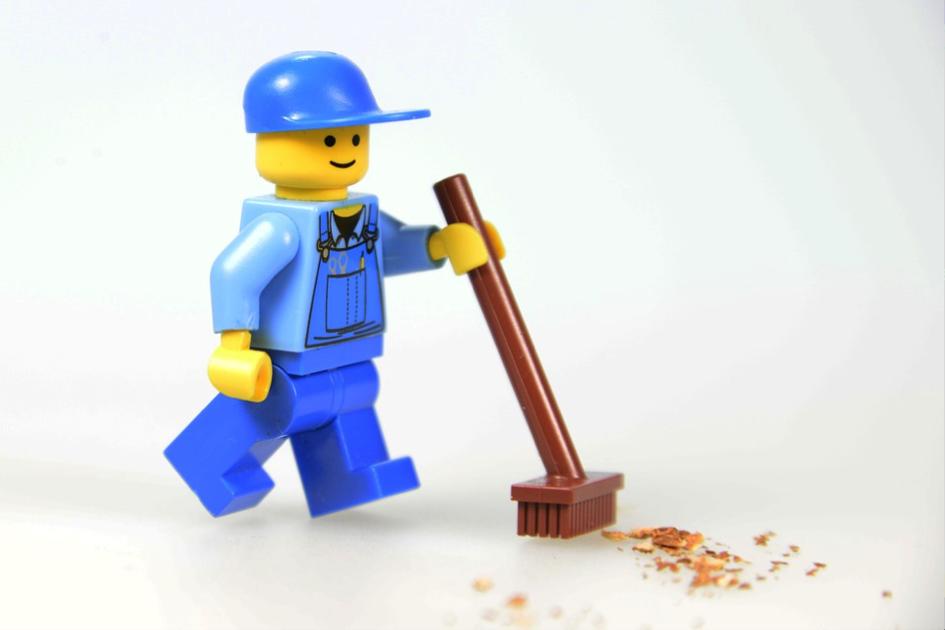 Voorjaarsschoonmaak lego