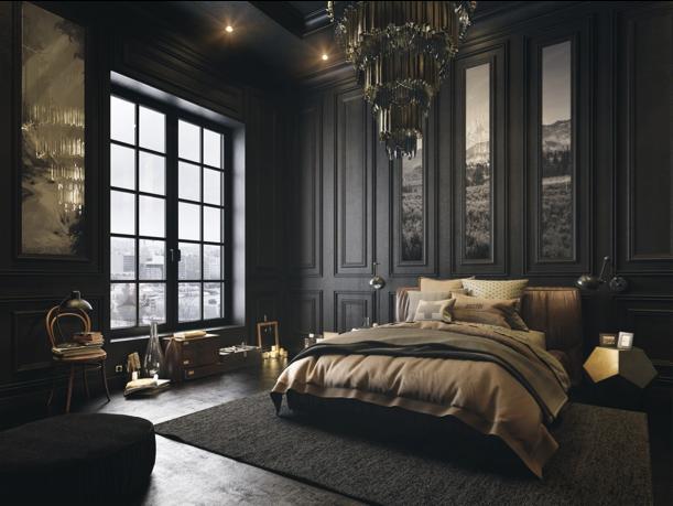 Donkere slaapkamer klassiek