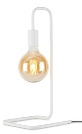 Winter verlichting Witte tafellamp