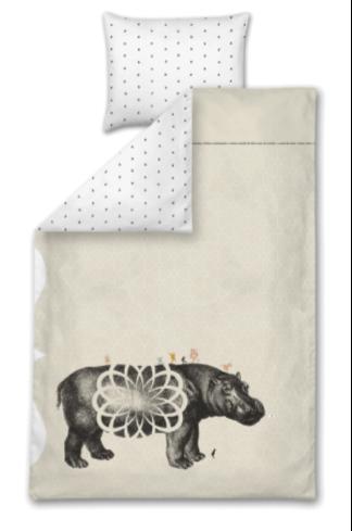 6 dekbedovertrekken nijlpaard