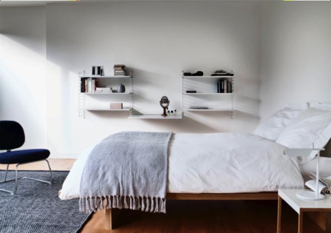 Een lichte slaapkamer geeft rust