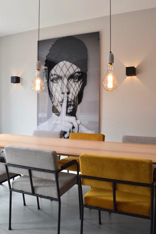 Gaaf groot kunstwerk aan de muur! - Atelier09