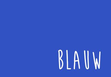 Kleur uitgelicht: blauw