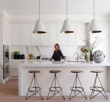 Mooie hanglampen in de keuken
