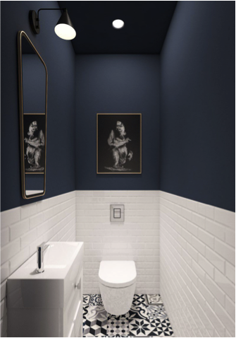 Toilet pimpen plafond donker